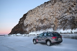 The Russian Book of Records Confirmed the Record Set by the Volkswagen Touareg on the Ice of Lake Baikal